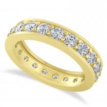 Diamond Eternity Wedding Band 14k Yellow Gold (1.89ct)