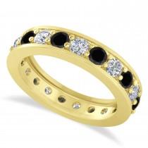 Black Diamond Eternity Wedding Band 14k Yellow Gold (1.89ct)