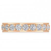 Diamond Eternity Wedding Band 14k Rose Gold (2.40ct)