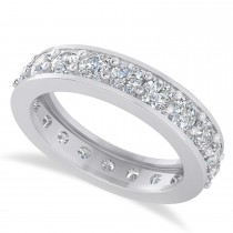 Diamond Eternity Wedding Band 14k White Gold (2.40ct)