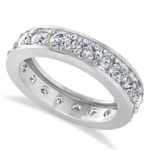 Diamond Eternity Wedding Band 14k White Gold (2.85ct)