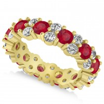 Garland Ruby & Diamond Eternity Band Ring 14k Yellow Gold (3.00ct)