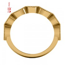 Marquise & Round Diamond & Aquamarine Band 14k Yellow Gold (0.90ct)