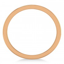 Marquise & Round Diamond Wedding Band 14K Rose Gold (0.90ct)