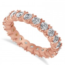 Diamond Eternity Wedding Band Ring 14K Rose Gold (2.10ct)