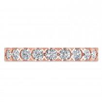 Diamond Eternity Wedding Band Ring 14K Rose Gold (2.10ct)