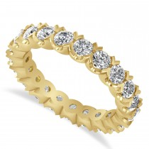 Diamond Eternity Wedding Band Ring 14K Yellow Gold (2.10ct)