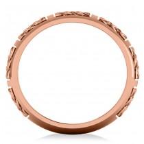 Celtic Wedding Ring Band 14k Rose Gold