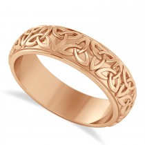 Celtic Knot Eternity Band 14k Rose Gold