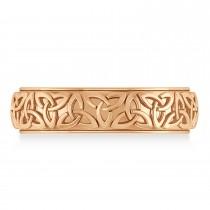 Celtic Knot Eternity Band 14k Rose Gold