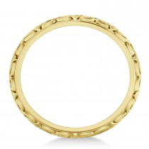 Celtic Knot Eternity Band 14k Yellow Gold