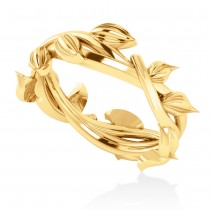 Wreath Wedding Band 14k Yellow Gold