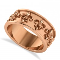 Fleur De Lis Women's Ring/Wedding Band 14k Rose Gold