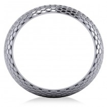 Snakeskin Textured Infinity Wedding Band 14K White Gold|escape