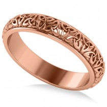 Celtic Knot Infinity Wedding Band Ring 14K Rose Gold