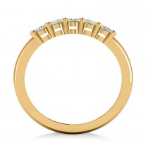 Oval Diamond & Opal Five Stone Ring 14k Yellow Gold (1.00ct)