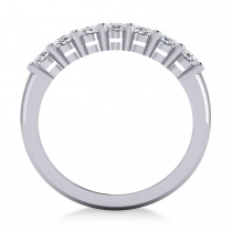 Oval Diamond Seven Stone Wedding Band 14k White Gold (1.75ct)