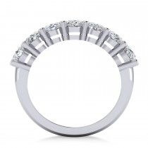Oval Diamond Seven Stone Wedding Band 14k White Gold (3.50ct)