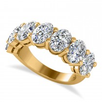 Oval Diamond Seven Stone Wedding Band 14k Yellow Gold (7.00ct)