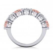 Oval Diamond & Morganite Seven Stone Ring 14k White Gold (6.00ct)|escape