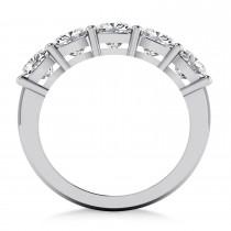 Cushion Diamond Five Stone Ring 14k White Gold (2.50ct)