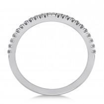 Contour Geometric V-Shape Chevron Wedding Band 14k White Gold (0.23ct)