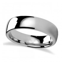 Domed Tungsten Carbide Wedding Band (6mm)