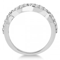 Pave Set Twisted Infinity Diamond Ring Band Platinum (0.75ct)