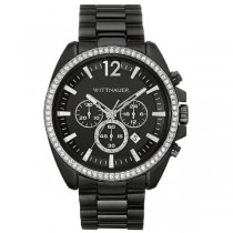Men's Wittnauer Watch Black Chronograph w/ Stainless Steel & Crystals