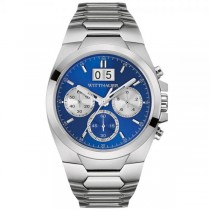 Men's Wittnauer Quartz Watch Stainless Steel Blue Dial Chronograph