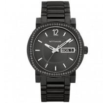 Men's Wittnauer Quartz Watch Black Stainless Steel Crystal Accented