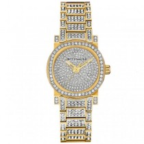 Women's Wittnauer Quartz Watch Gold Tone Stainless Steel w/ Crystals