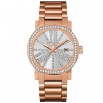 Women's Wittnauer Watch Rose Gold Tone Stainless Steel with Crystals