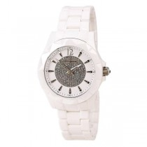 Women's Wittnauer Quartz Watch with Crystal Accents and White Ceramic