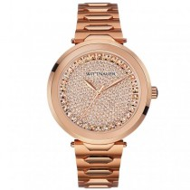Women's Wittnauer Watch Crystal Accented R. Gold Tone Stainless Steel