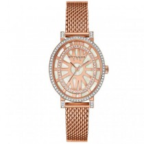 Women's Wittnauer Quartz Watch Oval Rose Gold Tone w/ Crystal Accents