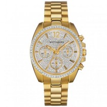 Women's Wittnauer Watch Gold Tone Stainless Steel with Crystal Accents