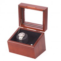 Single Watch Winder in Solid Cherry Featuring 4 winder programs