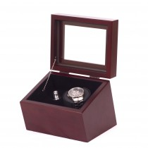 Single Mahogany Watch Winder in Solid Cherry w/ 4 winder programs