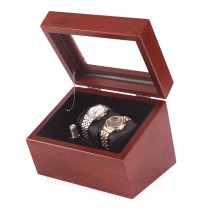 Double Watch Winder in Solid Cherry featuring 4 Winder programs