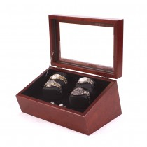 Quadruple Watch Winder in Solid Cherry w/ 4 winder programs