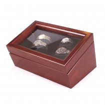 Quadruple Watch Winder in Solid Cherry w/ 4 winder programs|escape