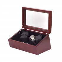 Quadruple Mahogany Watch Winder in Solid Cherry w/ 4 winder programs