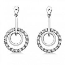 Diamond Accented Dangle Earring Jackets
