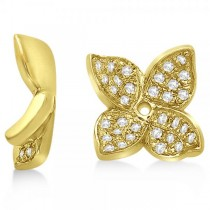 Diamond Butterfly Flower Earring Jackets