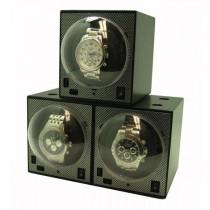 Stackable Carbon Fiber Single Automatic Watch Winder Box