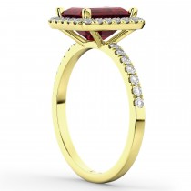 Ruby & Diamond Engagement Ring 14k Yellow Gold (3.32ct)