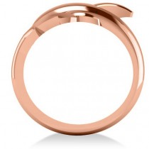 Summertime Dolphin Fashion Ring 14k Rose Gold size 6.5