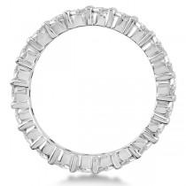 Round Moissanite Eternity Ring Anniversary Band 14K White Gold 1.75ctw