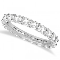 Round Moissanite Eternity Ring Anniversary Band 14K White Gold 3.00ctw size 9